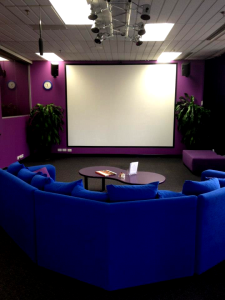 Our Big Screen Viewing Room